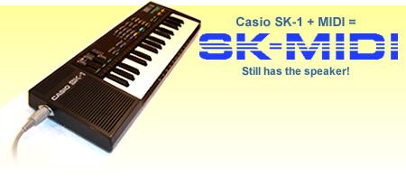 Casio SK-1 + MIDI = SK-MIDI